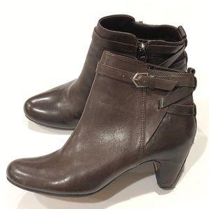 Sam Edelman Maddox Brown Leather Bootie